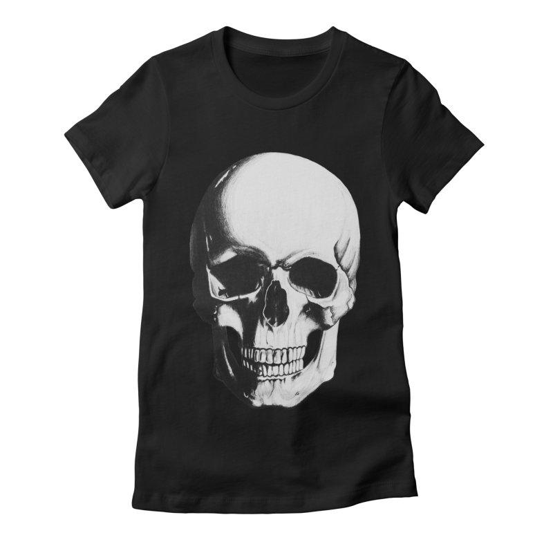 Skull Women's Fitted T-Shirt by Allison Low Art