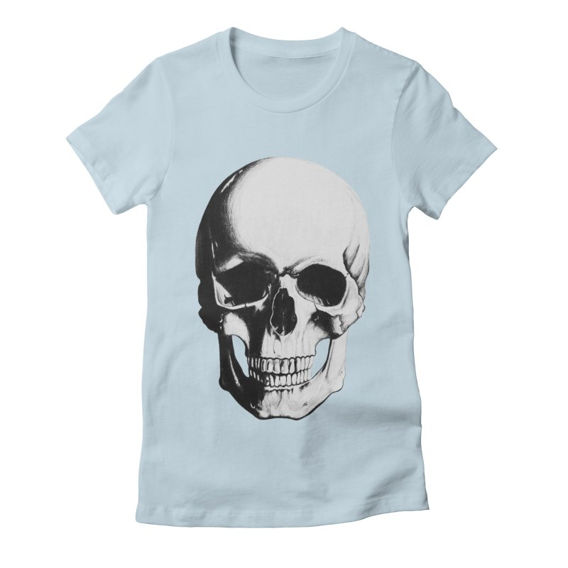 Skull Women's Fitted T-Shirt by Allison Low Art