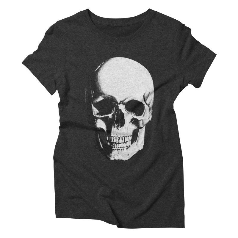 Skull Women's Triblend T-Shirt by Allison Low Art