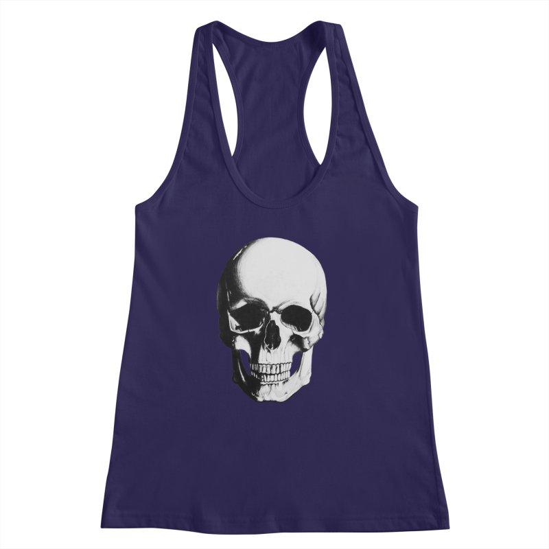 Skull Women's Racerback Tank by Allison Low Art