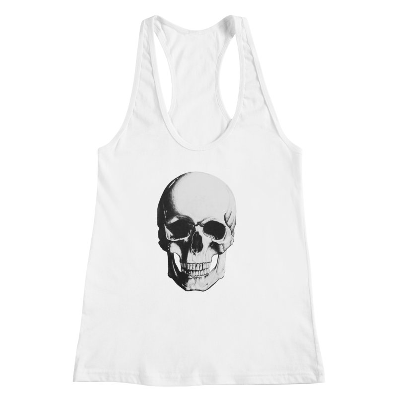 Skull Women's Racerback Tank by Allison Low Art