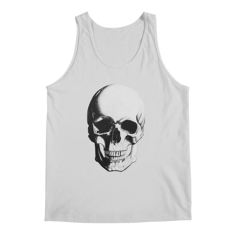 Skull Men's Tank by Allison Low Art