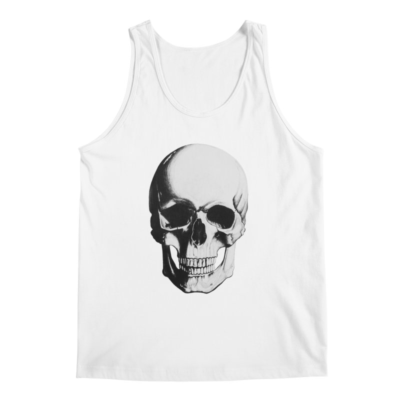 Skull Men's Tank by Allison Low Art