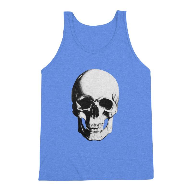 Skull Men's Triblend Tank by Allison Low Art