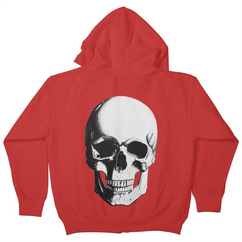Skull Kids Zip-Up Hoody by Allison Low Art