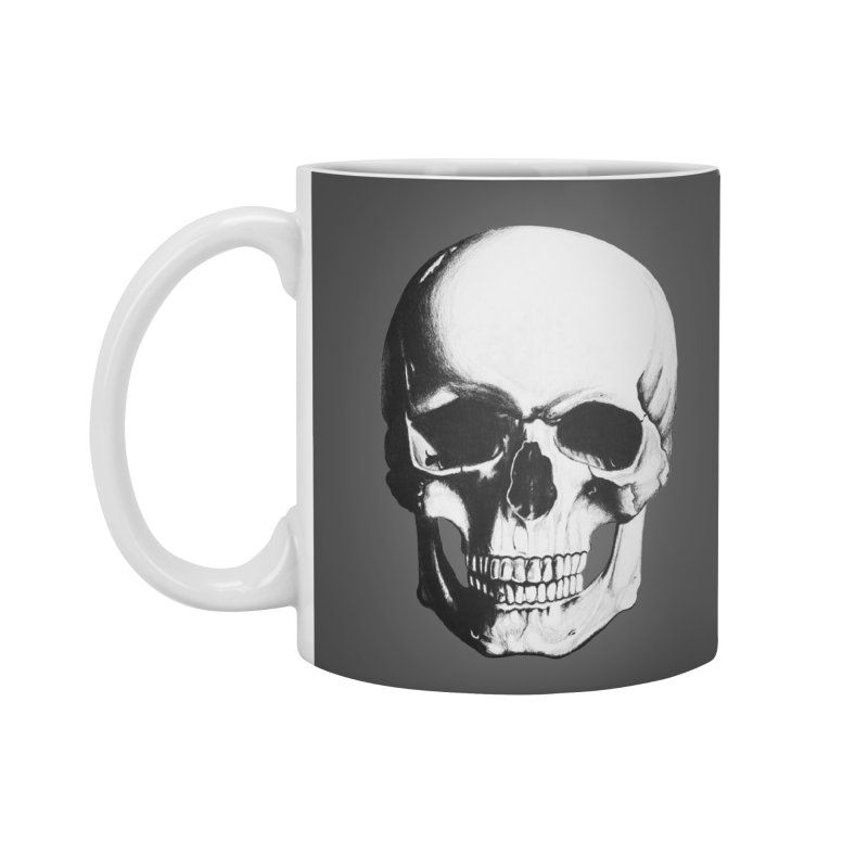 Skull Accessories Mug by Allison Low Art
