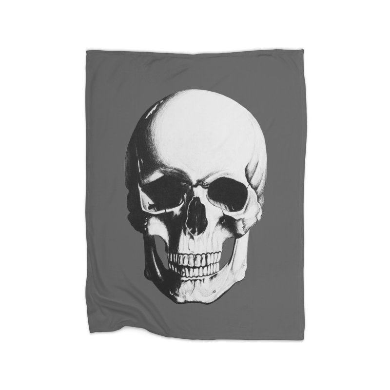 Skull Home Blanket by Allison Low Art