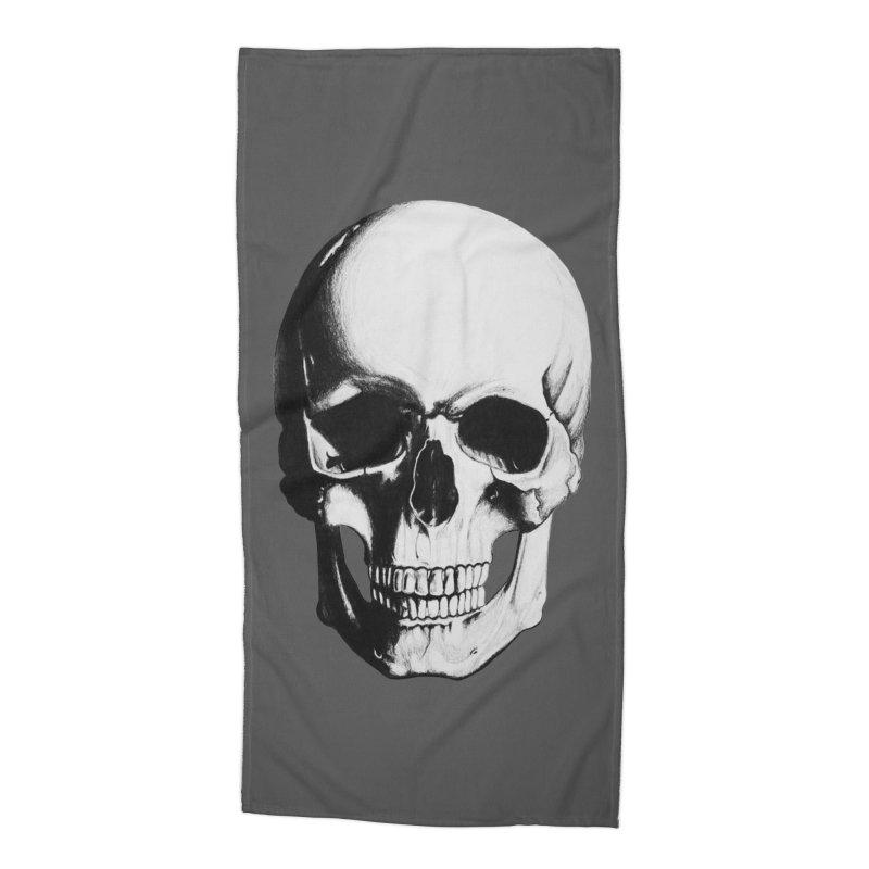 Skull Accessories Beach Towel by Allison Low Art