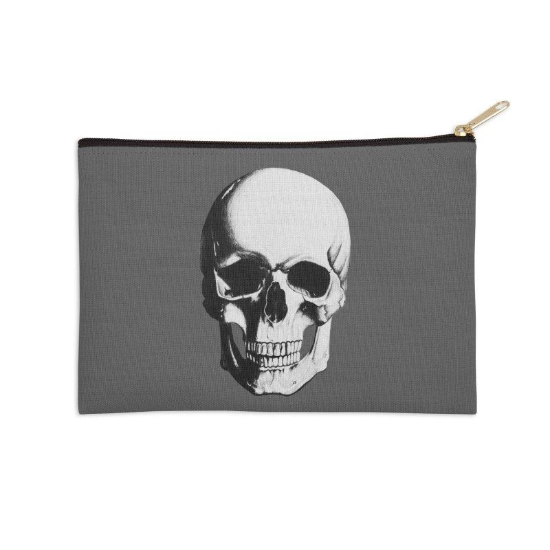 Skull Accessories Zip Pouch by Allison Low Art