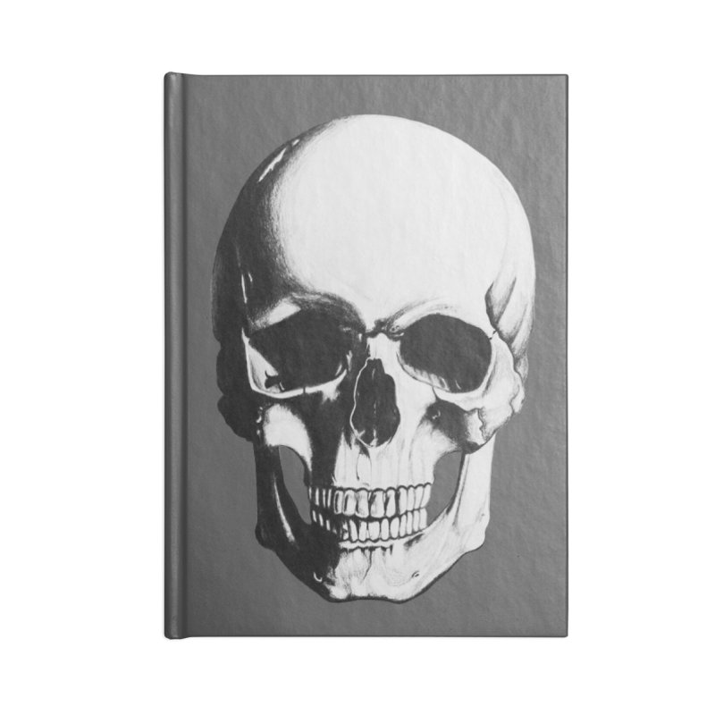 Skull Accessories Notebook by Allison Low Art