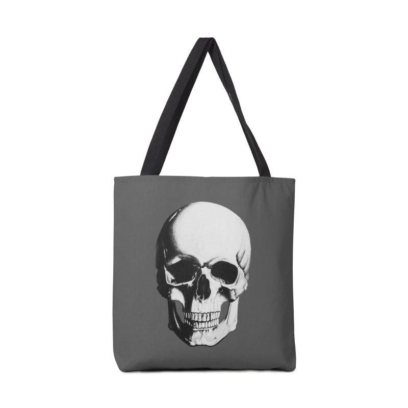 Skull Accessories Bag by Allison Low Art