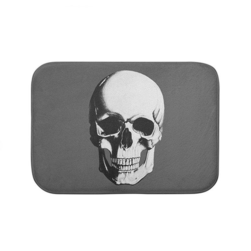 Skull Home Bath Mat by Allison Low Art