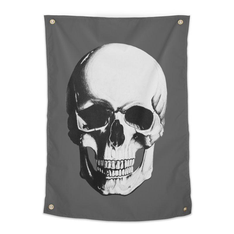 Skull Home Tapestry by Allison Low Art