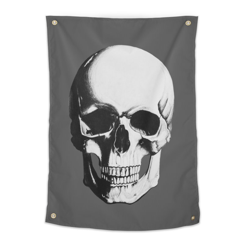 Skull Home Tapestry by Allison Low Art