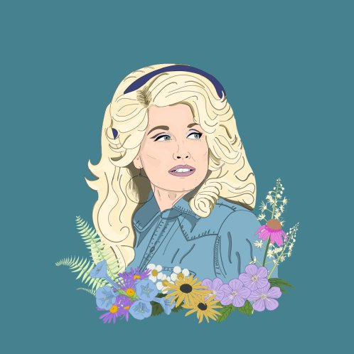 Design for Dolly Parton, a Tennessee wildflower
