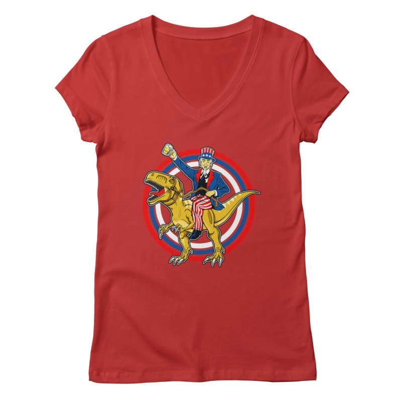 Red, White and Brew Women's V-Neck by The Final Boss