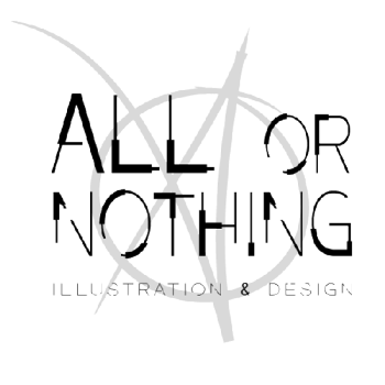 All or Nothing illustration and design Logo