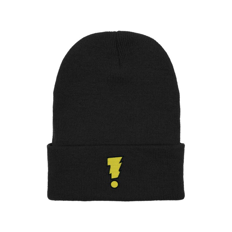 Madman Exclamation Bolt Classic Yellow Accessories Hat by Michael Allred