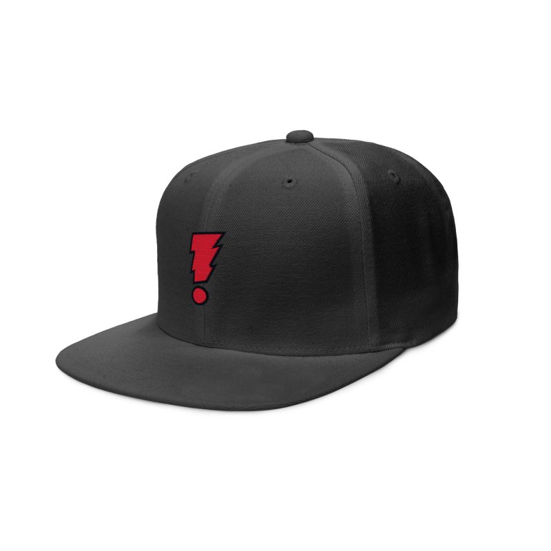 MADMAN Exclamation Bolt in Red Accessories Hat by Michael Allred