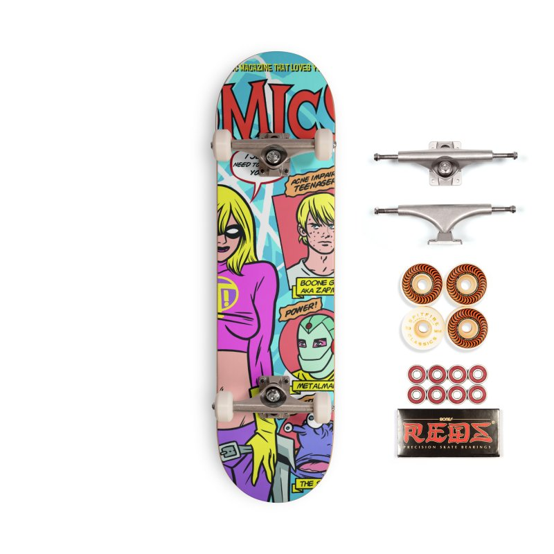 ATOMICS #3B Accessories Skateboard by Michael Allred