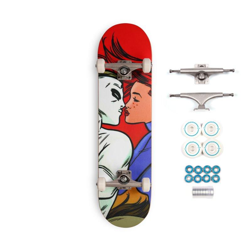 MADMAN & JOE Riding Kiss Skateboard Accessories Skateboard by Michael Allred