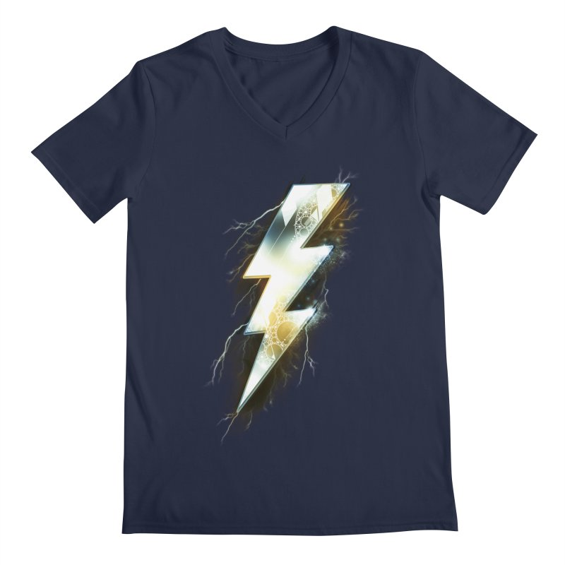Night of Thunder Men's V-Neck by alnavasord's Artist Shop