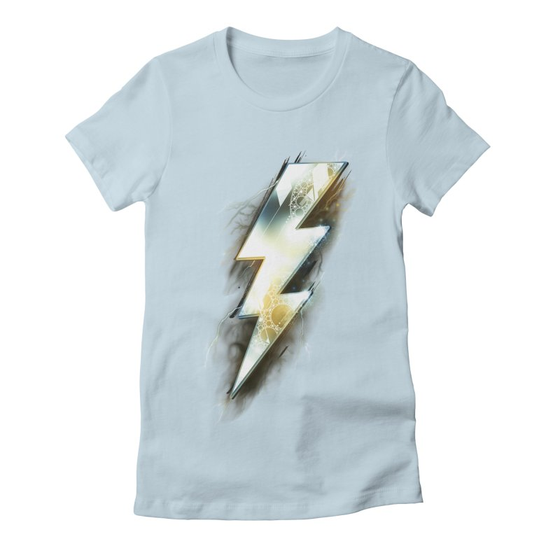 Night of Thunder Women's Fitted T-Shirt by alnavasord's Artist Shop