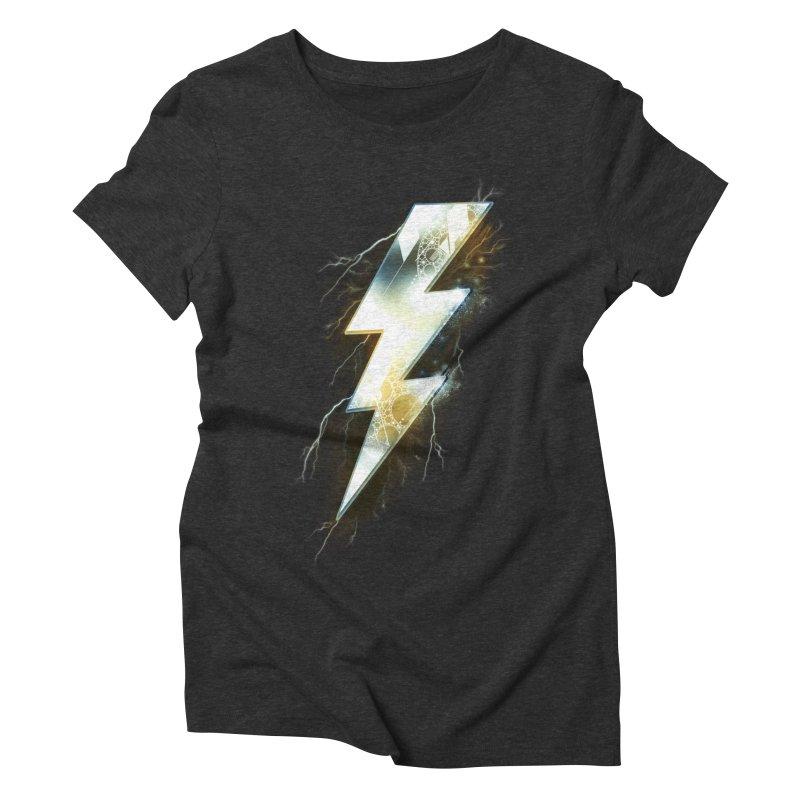 Night of Thunder Women's Triblend T-shirt by alnavasord's Artist Shop