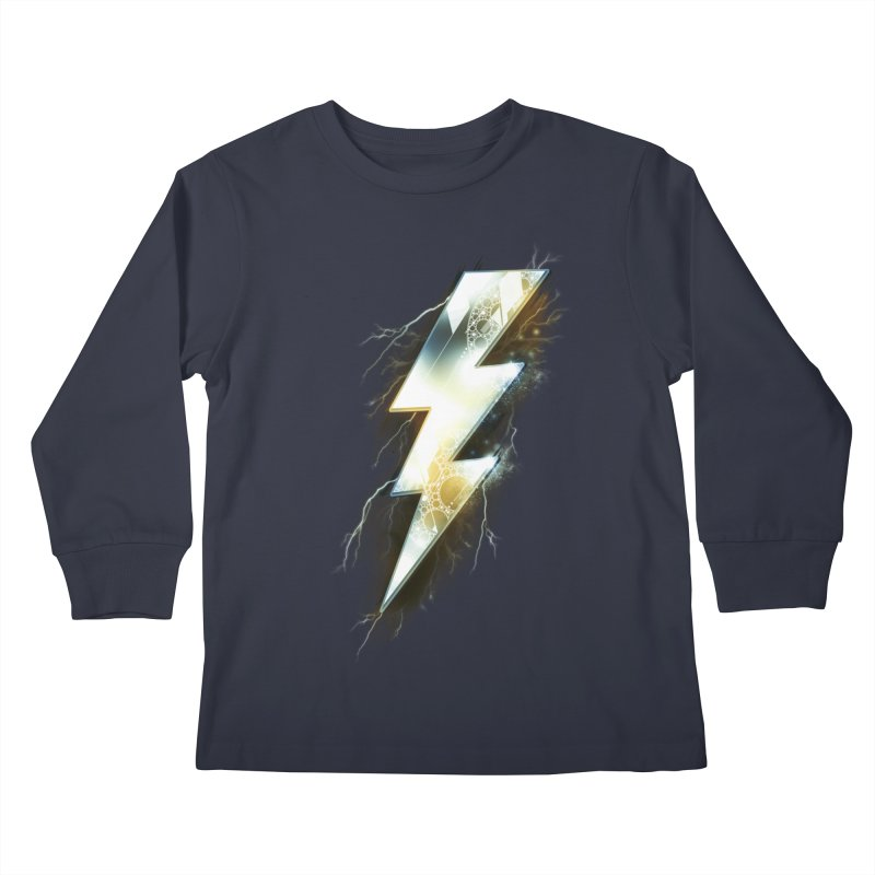 Night of Thunder Kids Longsleeve T-Shirt by alnavasord's Artist Shop