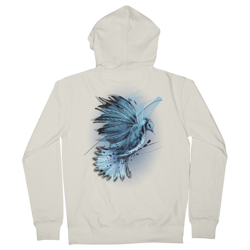 BlueJay Women's Zip-Up Hoody by alnavasord's Artist Shop