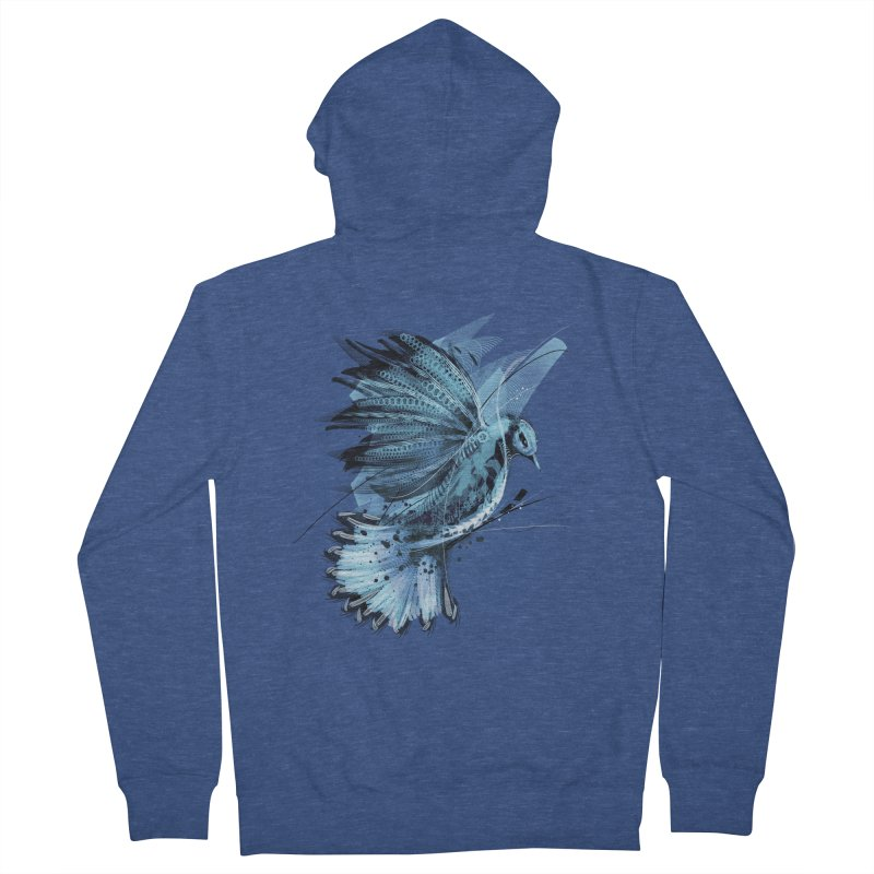 BlueJay Men's Zip-Up Hoody by alnavasord's Artist Shop
