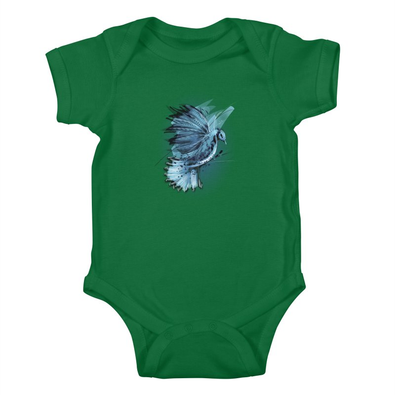 BlueJay Kids Baby Bodysuit by alnavasord's Artist Shop