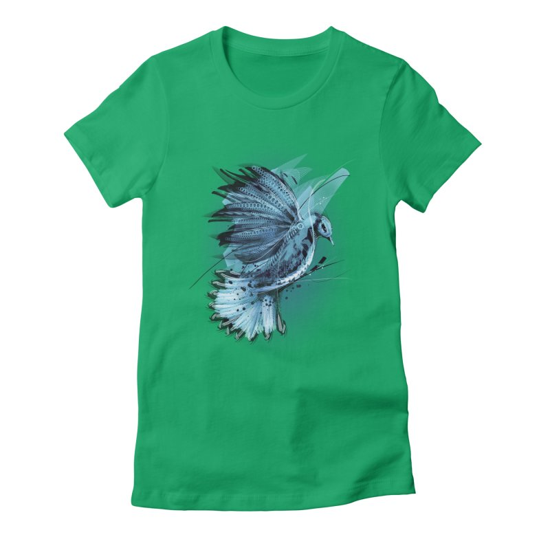 BlueJay Women's Fitted T-Shirt by alnavasord's Artist Shop