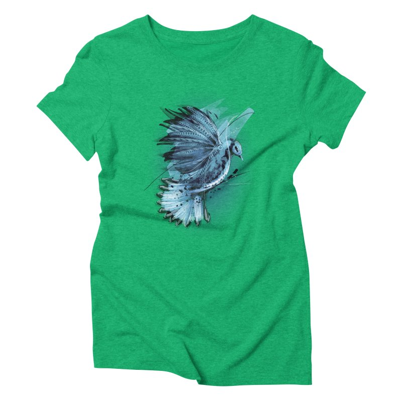 BlueJay Women's Triblend T-shirt by alnavasord's Artist Shop