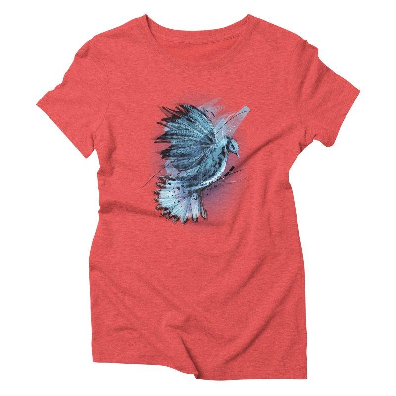 BlueJay Women's Triblend T-shirt by alnavasord's Artist Shop