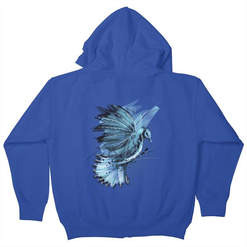 BlueJay Kids Zip-Up Hoody by alnavasord's Artist Shop