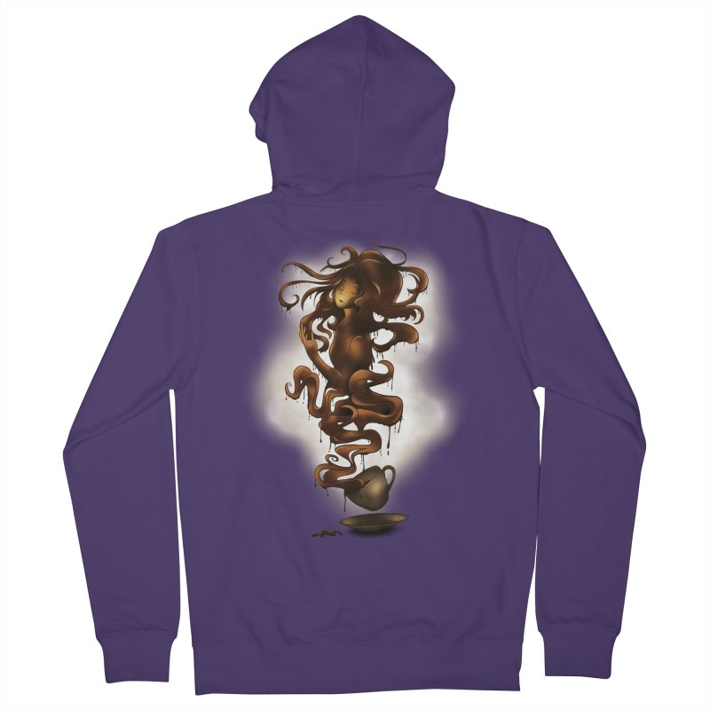 a cup of coffee Women's Zip-Up Hoody by alnavasord's Artist Shop
