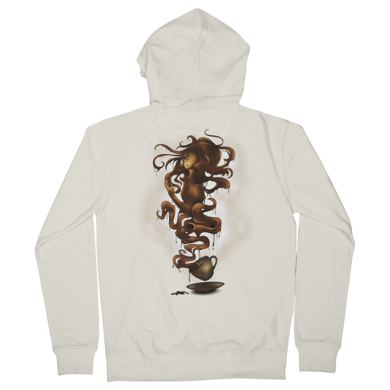 a cup of coffee Men's Zip-Up Hoody by alnavasord's Artist Shop