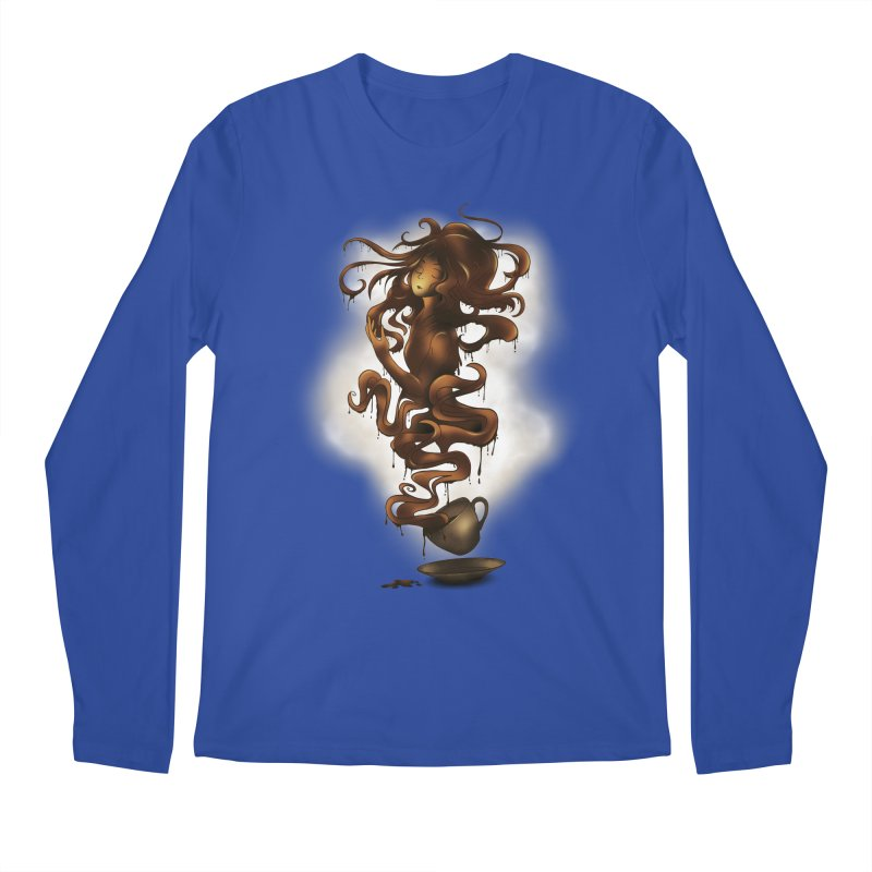 a cup of coffee Men's Longsleeve T-Shirt by alnavasord's Artist Shop
