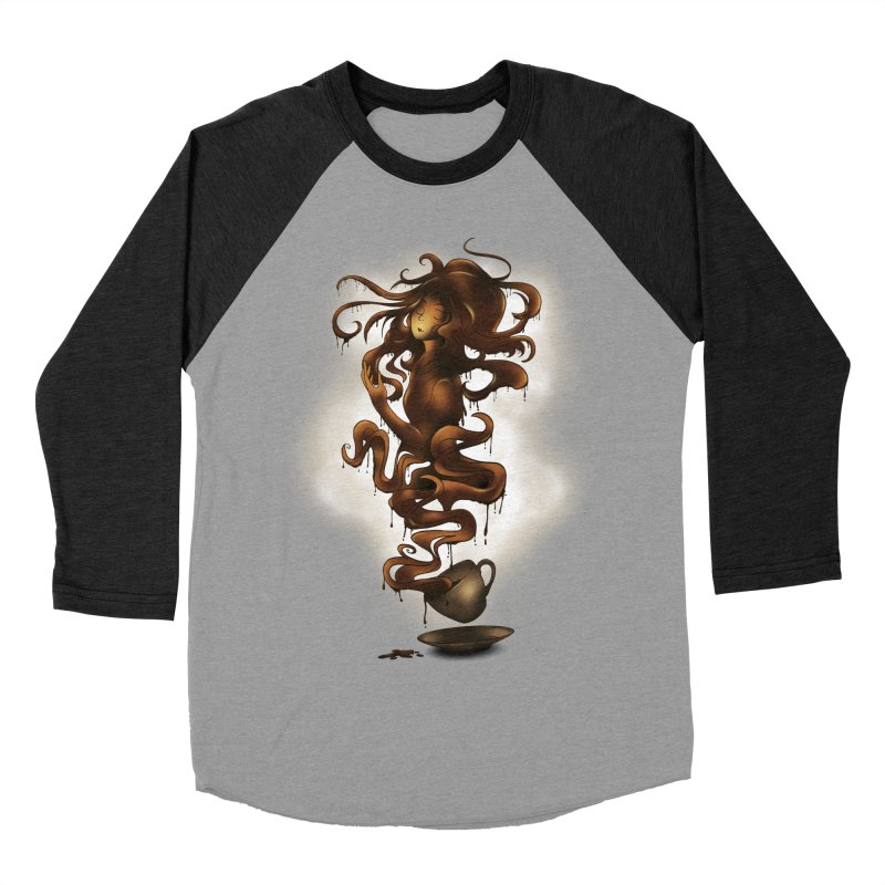 a cup of coffee Women's Baseball Triblend T-Shirt by alnavasord's Artist Shop