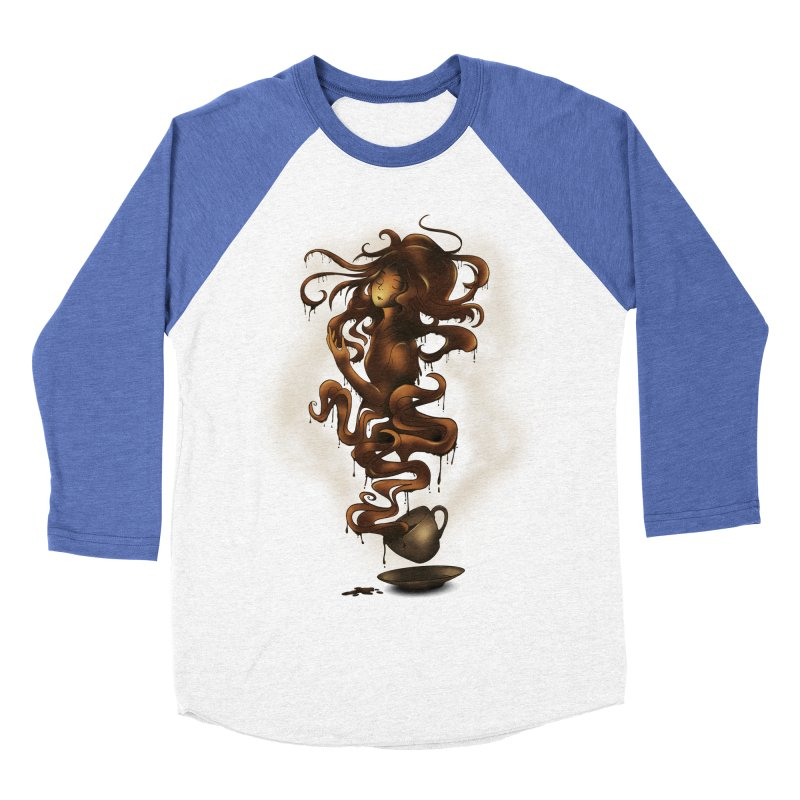 a cup of coffee Men's Baseball Triblend T-Shirt by alnavasord's Artist Shop