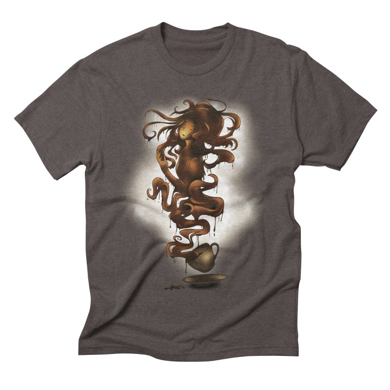 a cup of coffee Men's Triblend T-shirt by alnavasord's Artist Shop