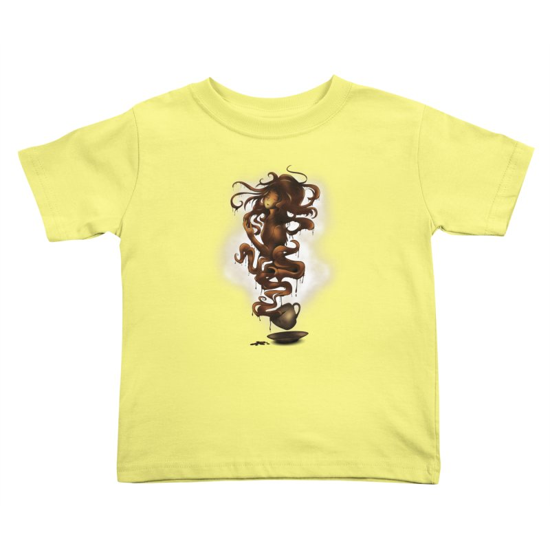 a cup of coffee Kids Toddler T-Shirt by alnavasord's Artist Shop
