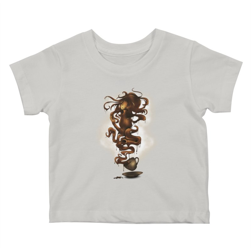 a cup of coffee Kids Baby T-Shirt by alnavasord's Artist Shop