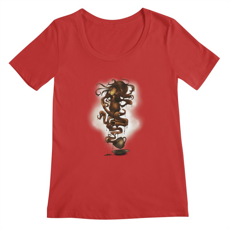 a cup of coffee Women's Scoopneck by alnavasord's Artist Shop