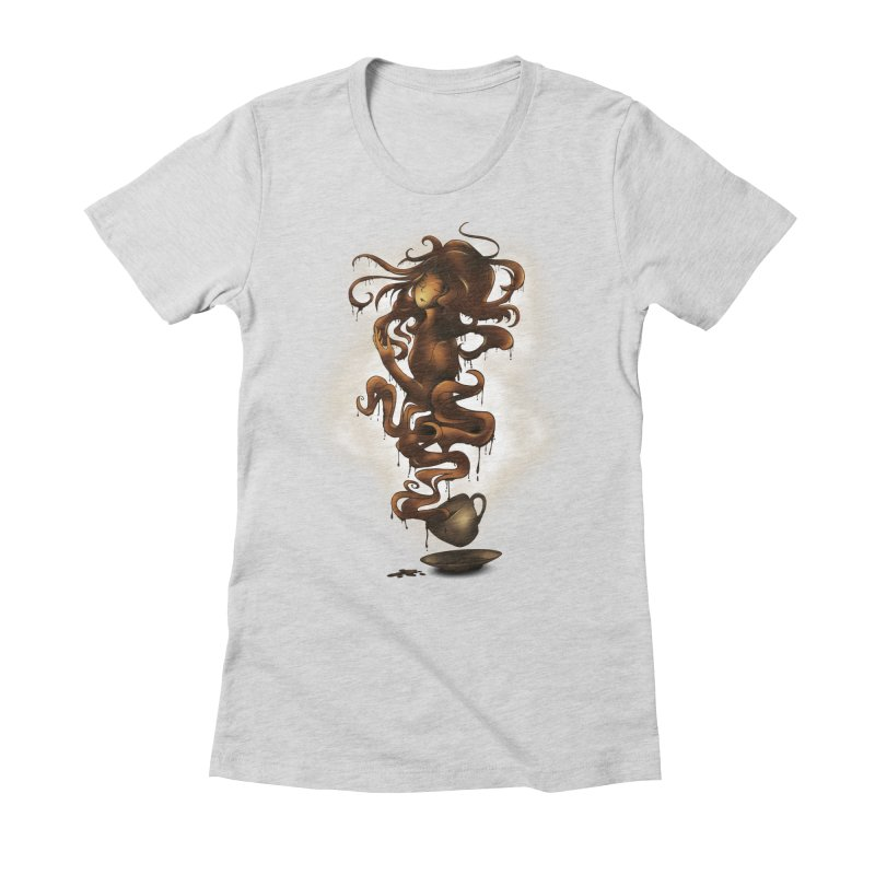 a cup of coffee Women's Fitted T-Shirt by alnavasord's Artist Shop