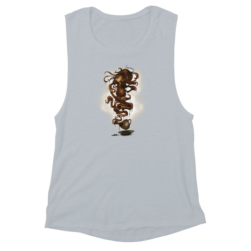 a cup of coffee Women's Muscle Tank by alnavasord's Artist Shop