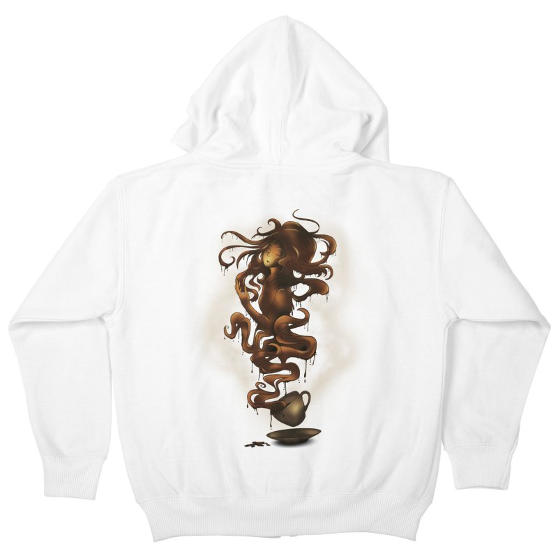 a cup of coffee Kids Zip-Up Hoody by alnavasord's Artist Shop