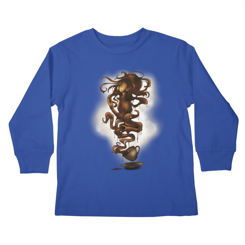 a cup of coffee Kids Longsleeve T-Shirt by alnavasord's Artist Shop