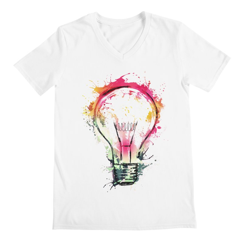 Splash Ideas Men's V-Neck by alnavasord's Artist Shop